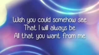 Misunderstood   AJ Michalka Lyrics Video