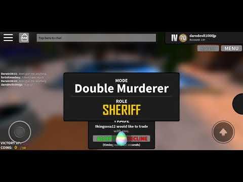 MURDER MYSTERY X 2019 CODES!! (UPDATE) Roblox - GoblinPlays - Video