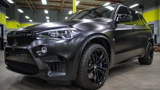 SD WRAP BMW X5M (MURDERED OUT...complete wrap/wheels/blackout)!!!