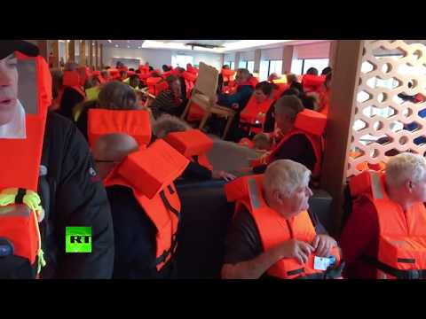 Viking Sky cruise ship in distress, water flows inside, hundreds of passengers on board