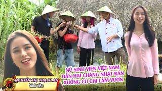 Nữ sinh viên Việt Nam dẫn hai chàng thanh niên Nhật Bản xuống Củ Chi làm vườn 😜