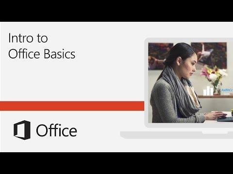 Introduction to Office Basics training - YouTube