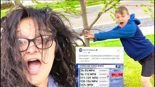 HURRICANE Force WINDS! Operation SAVE THE TREE!