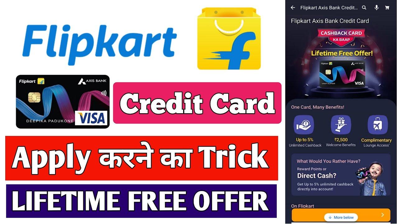 Flipkart Axis Bank Visa Charge Card   Life Time Free Card Deal   Flipkart axis bank credit card  thumbnail