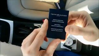 TOMMY HILFIGER 1790858 watch UNBOXING/REVIEW