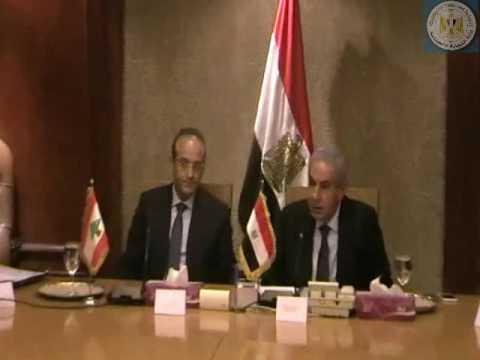 جلسة مباحثات الوزير/طارق قابيل مع السيد/رائد خورى وزير الإقتصاد والتجارة الخارجية اللبنانى