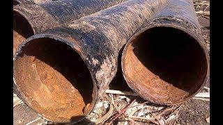 Поехали на коп, выкопали 6- ти метровую трубу почти на пол тонны