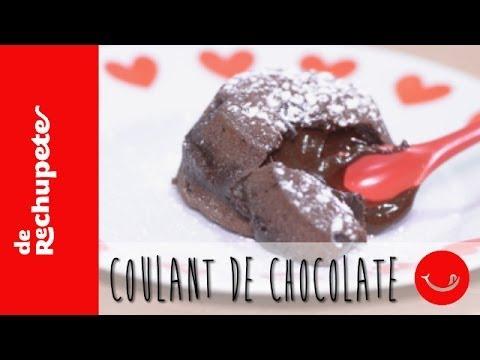 Receta fácil de coulant de chocolate.- 'De Rechupete'