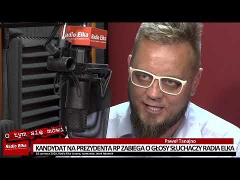 Wideo1: Paweł Tanajno, kandydat na prezydenta RP w Radiu Elka