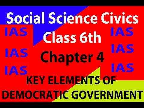 elements of democratic government