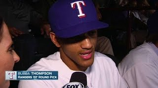 SEA@TEX: Bubba Thompson on being drafted by Rangers