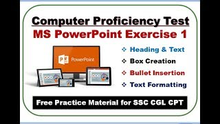 CPT Module 3_MS PowerPoint Exercise 1_Part 1 || SSC CGL 2017