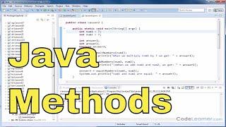 Java Programming Tutorial 02 - Adding Parameters to a Method & Returning Values