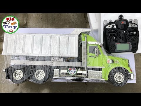 RC DUMP TRUCK 1/14 UNBOXING KNIGHT HAULER SEMI TAMIYA SOUND AND LIGHT REVIEW TOY