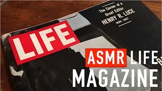 ASMR LIFE Magazine (page Turning, Paper Sounds, Soft Speaking, Pointing)