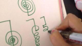 Method to draw Reiki Symbols -Cho Ku Rei , Sei He Ki, Hon Sha Ze Sho Nen