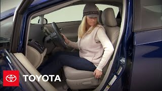 2010 Prius How-To: Seat Adjustments and Heated Seats   Toyota