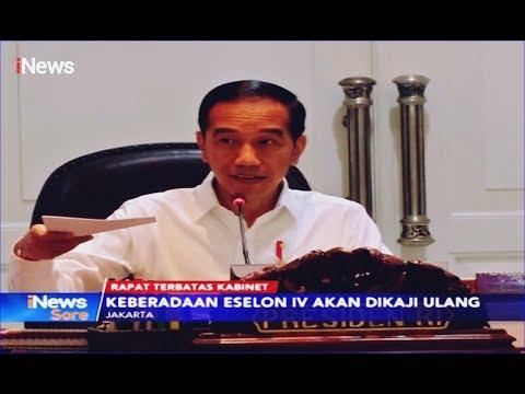 Rapat Terbatas Kabinet, Presiden Akan Kaji Pemangkasan Enselon IV - iNews Sore 11/11