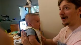 Is This 3-Month-Old Baby Really Talking?! Watch Him Tell Dad: 'I Love You!'