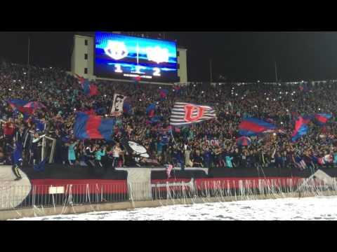 """""""Los de Abajo """"lo mas importante""""   celebración gol 1-2 vs Timao 05/2017"""" Barra: Los de Abajo • Club: Universidad de Chile - La U • País: Chile"""