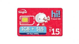 The New Prepaid $15 hi! SIM Card with 1GB Data!