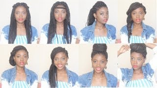 How I Style BOX BRAIDS | 8 Hairstyles in 4 minutes
