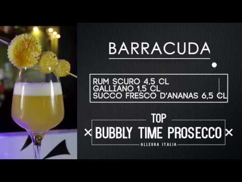 Prosecco Cocktail Barracuda: cocktail con Rum Prosecco e Galliano