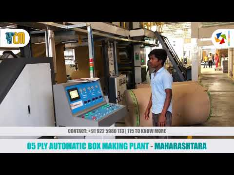 Automatic Board Making 3 / 5 Ply Plant - STD Board Line