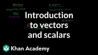 Introduction to Vectors and Scalars
