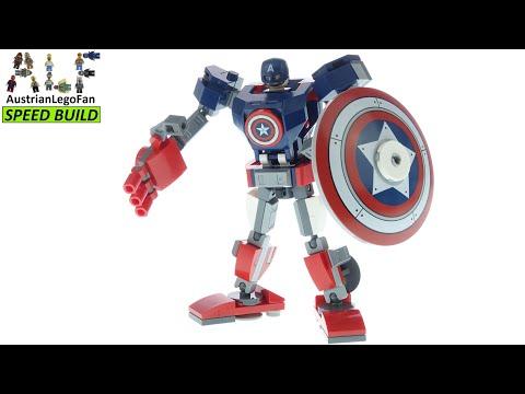 Vidéo LEGO Marvel 76168 : L'armure robot de Captain America