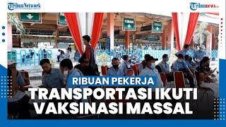 Pekerja Transportasi Ikuti Vaksinasi Covid-19 di Terminal Kampung Rambutan, 1.702 Orang Disuntik
