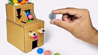 How to make Gumball Vending Machine using cardboard