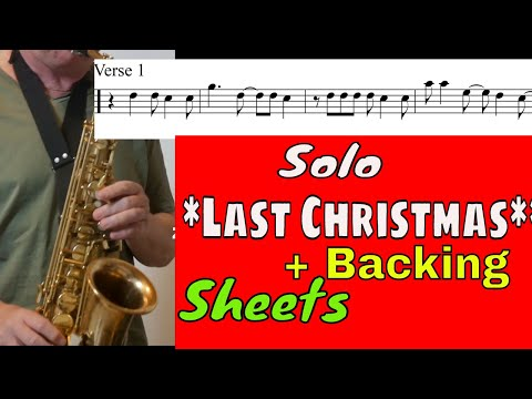 *Last Christmas* Saxophon Solo Backingtrack/Play along Noten sheet music Sax Coach Saxman