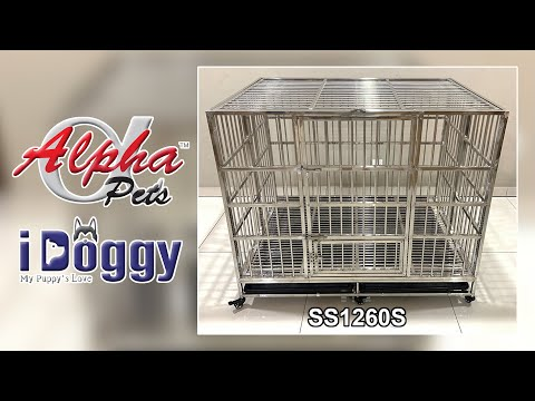 Collapsible Stainless Steel Dog Cage (SS1260S)