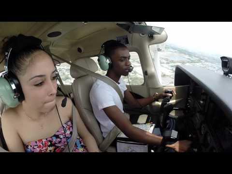Cessna 172| Flying Girlfriend to Pompano Beach| ATC Audio