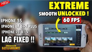 How to Unlock Smooth Extreme 60 FPS On iPhone pubg mobile - LAG FIX 2021 🔥