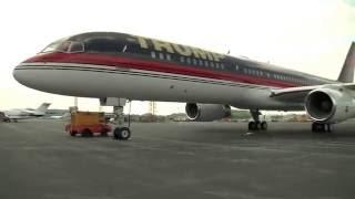 הצצה למטוסו של המועמד הרפובליקני לנשיאות – דונאלד טראמפ
