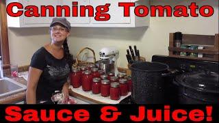 Canning Tomato Sauce & Juice!