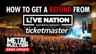 How To Get A Refund For Ticketmaster / Live Nation Postponed Shows   Metal Injection
