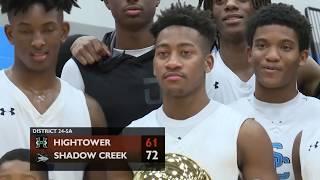 Shadow Creek vs Hightower Boys Basketball 2-9-19