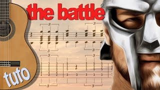 TUTO GLADIATOR - THE BATTLE - Guitare FingerStyle