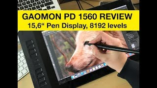 Pen Display Gaomon PD 1560 Test / Review (GER / ENG)