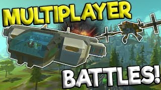 MULTIPLAYER SPACESHIP AI BATTLES! - Scrap Mechanic Gameplay - Best Builds
