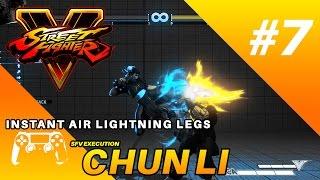 SFV Chun Li Execution : Instant Air Lightning Legs (Controller)