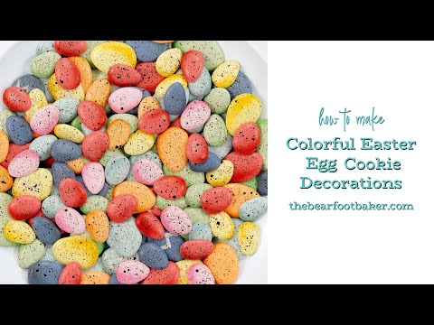 How to Make Colorful Easter Egg Cookie Decorations | The Bearfoot Baker