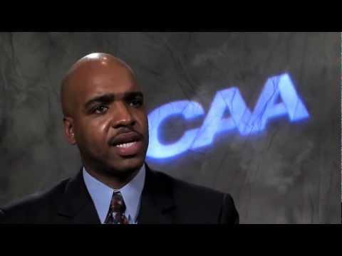 Delaware's Monte Ross -- 2012 #CAAHoops Media Day Satellite Uplink Interview