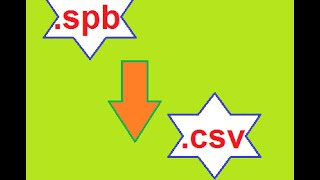 How to convert spb file extension to csv file extension?