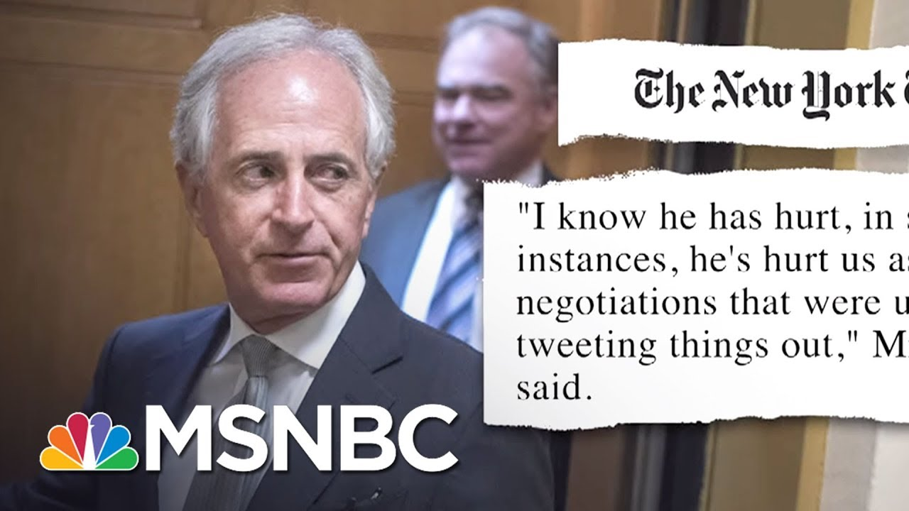 Senator Bob Corker Warns President Donald Trump Could Put US On Path To WWIII | Morning Joe | MSNBC thumbnail