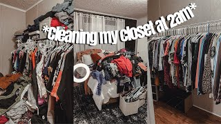 Pulling An All-nighter To Declutter My Closet | HUGE CLOSET TRANSFORMATION