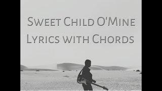 Sweet Child O'Mine Lyrics With Chords
